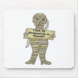 Wrapped Up Mummy Mouse Pads