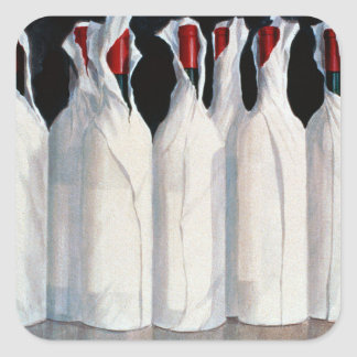 Wrapped Wine Bottles Number 1 1995 Square Sticker