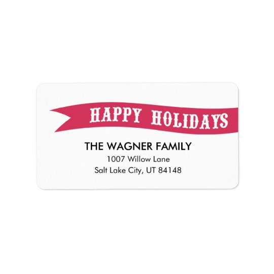 Wrapped With Love Holiday Address Labels