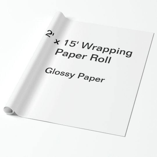 Glossy Wrapping Paper, 30 in x 15 ft