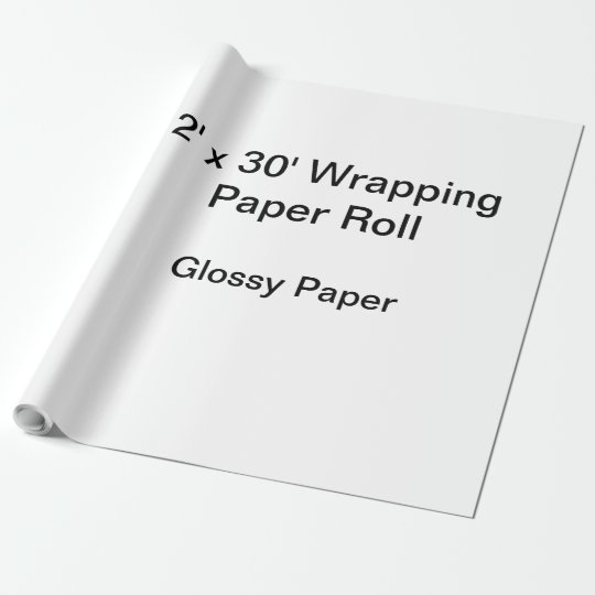Glossy Wrapping Paper, 30 in x 30 ft