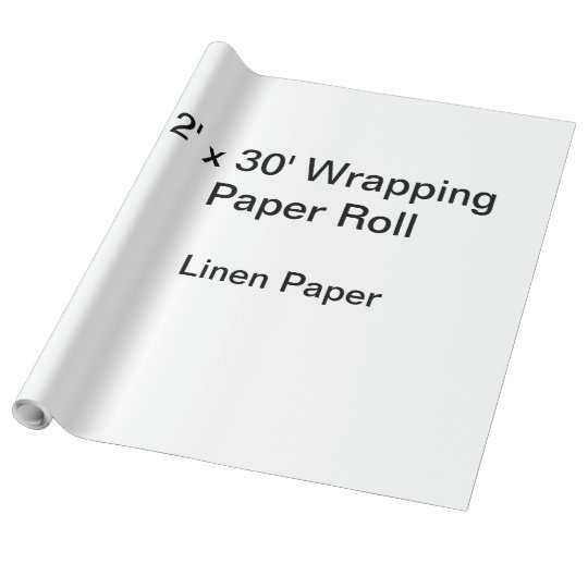 Linen Wrapping Paper, 30 in x 30 ft