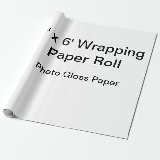 "Wrapping Paper (30"" x 6' Roll, Matte Paper)"