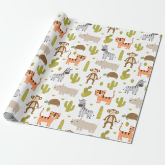 Wrapping Paper - Animal Safari