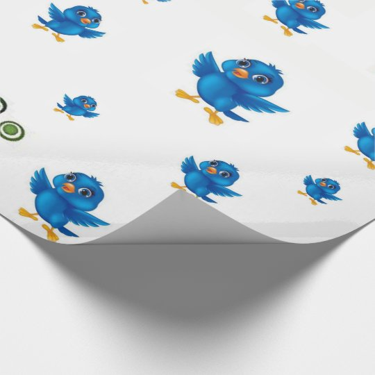 Wrapping paper Birds