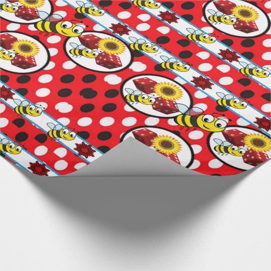 Wrapping paper bumblebee