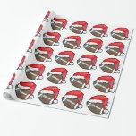 Wrapping Paper - Christmas Santa Football