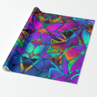 Wrapping Paper Floral Fractal Art