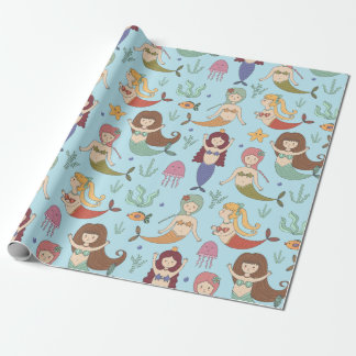 Wrapping Paper - Let's Be Mermaids