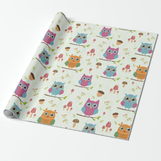 Wrapping Paper - Merry Owls