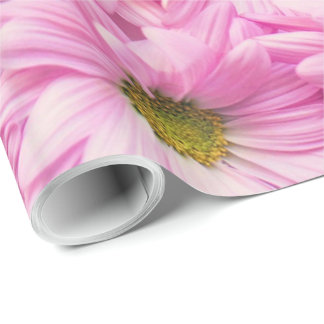 Wrapping Paper - Pink Gerbera Daisies