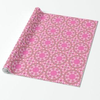 Wrapping Paper Pink Kaleidoscope Circles