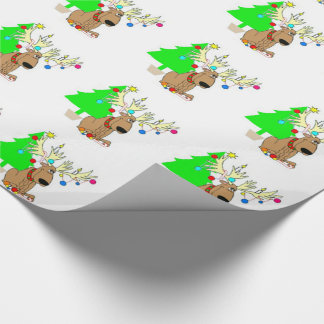 Wrapping Paper/Reindeer & Christmas Tree Wrapping Paper