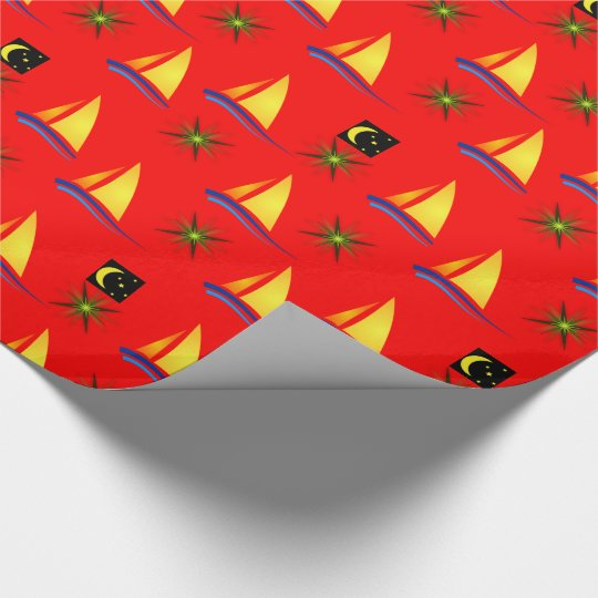 Wrapping paper Sailboats
