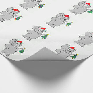 Wrapping Paper/Santa Elephant Wrapping Paper