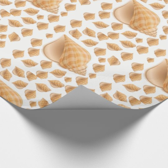 Wrapping paper Seashells