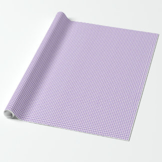Wrapping Paper Violet and White Check Gingham
