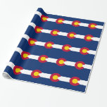 Wrapping paper with Flag of Colorado