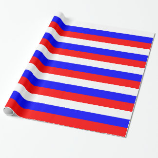 Wrapping paper with Flag of Russia