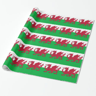 Wrapping paper with Flag of Wales, UK