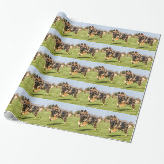 Wrapping paper with German Shepherd Dog Alsatian