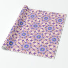 Wrapping Paper with Kaleidoscope Flowers