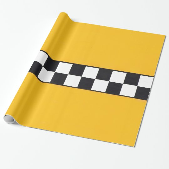 Wrapping paper with yellow Taxi