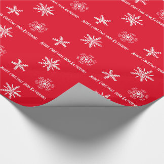 Wrapping paper with your personal wishes, xmas