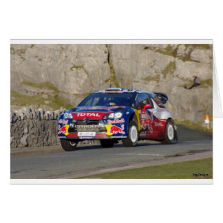 WRC Rally Car Card