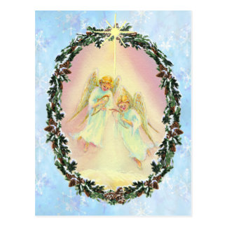 WREATH & ANGELS by SHARON SHARPE Post Cards