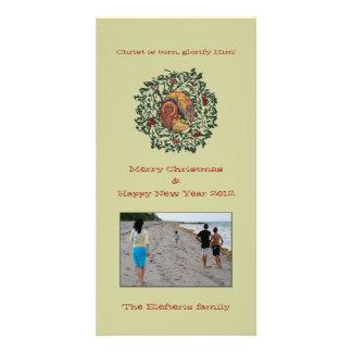 Wreath Custom Photo Card