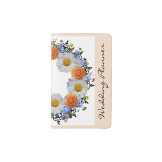 Wreath Daisy Flowers Floral Vector Pocket Notebook