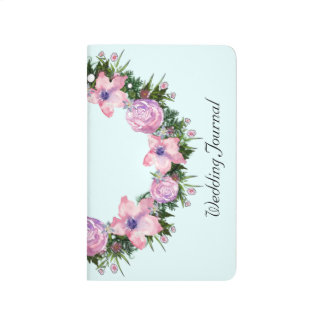 Wreath Dolly Peppermint Flowers Floral Vector Pink Journal