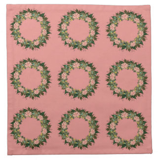 "Wreath ""Enjoy"" Flowers Floral Napkins"