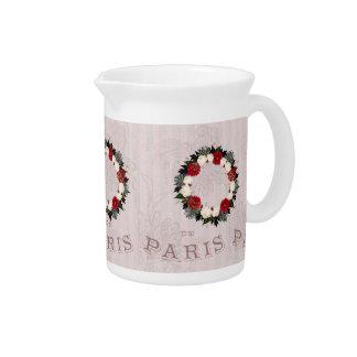 """Wreath """"Fleur"""" Flowers Porcelain Pitcher"""