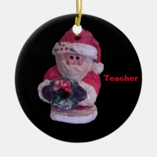 WREATH FOR TEACHER SANTA COLLECTOR XMAS ORNAMENT