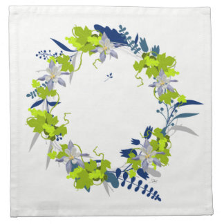 "Wreath ""Grape Love"" Flowers Floral Napkins"