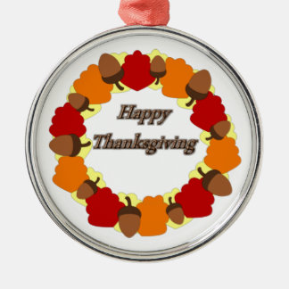 Wreath ~ Happy Thanksgiving Christmas Ornament