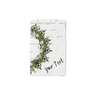 "Wreath ""Mini White"" Flowers Floral Pocket Notebook"