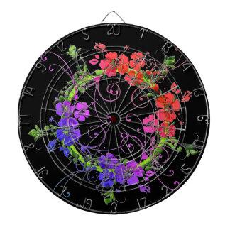 Wreath of Flowers Dartboard