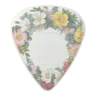 Wreath of Roses, Frontispiece for 'Les Roses' Acetal Guitar Pick