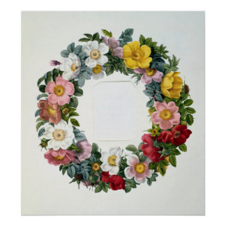 Wreath of Roses, Frontispiece for 'Les Roses' Poster