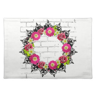"Wreath ""Pink Grape"" Flowers Floral Placemat"