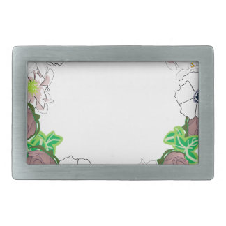 wreath rectangular belt buckle