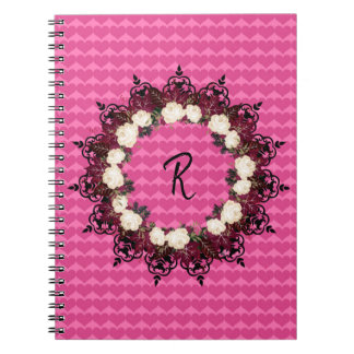 "Wreath ""Red Leaf"" Flowers Floral Notebook"