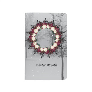"Wreath ""Red Leaf"" Flowers Floral Pocket Journal"