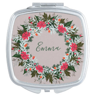 Wreath Wedding Flowers Floral Vector Red Emma Mirror For Makeup