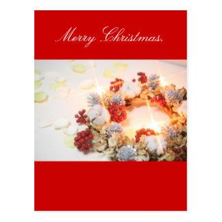 Wreath white light postcards
