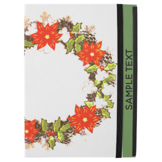"""Wreath """"Winter Roses"""" Flowers Floral iPad Case"""