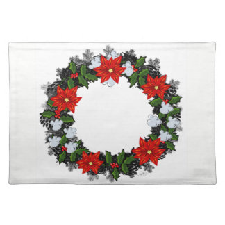 "Wreath ""Winter Roses"" Flowers Floral Placemat"